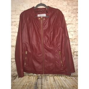 Marc New York Andrew Marc Deep Red Jacket Size 2X